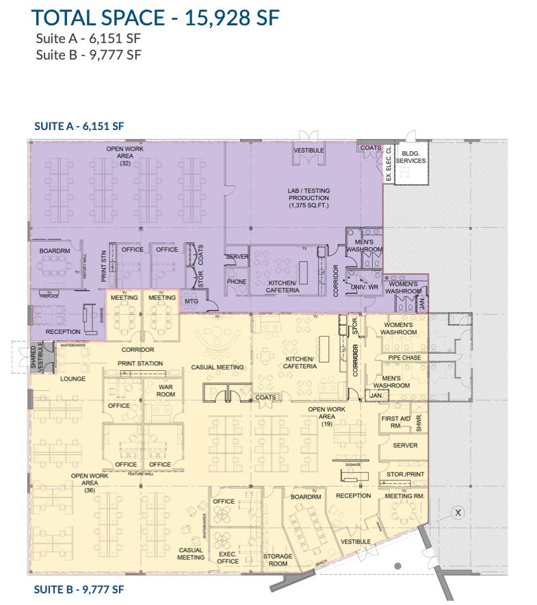 Suite A & Suite B Floor Plan