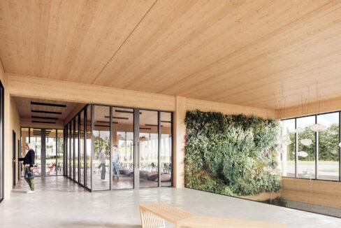 mass timber interior-rendering