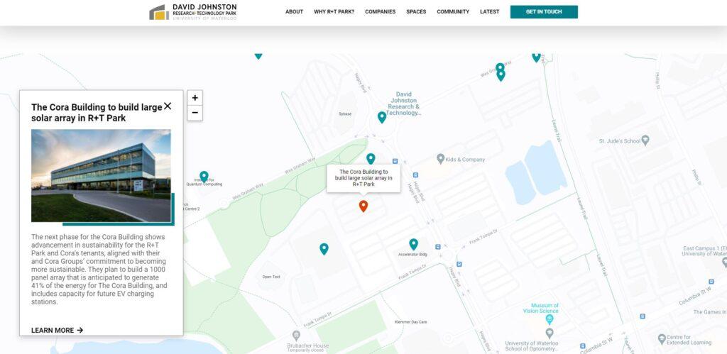 R+T park nteractive map